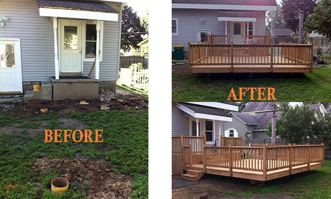Residential Deck - before and after